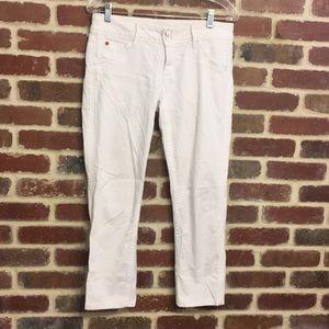 Hudson white Crop Jeans